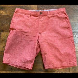 Banana Republic Red Chambray Deck Shorts sz 32 EXC